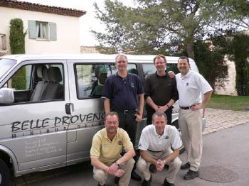 Golf tour in Provence with Belle Provence Minibus Deluxe